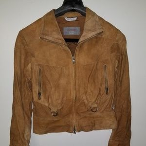 Vintage Tan/Brown Suede Leather Jacket